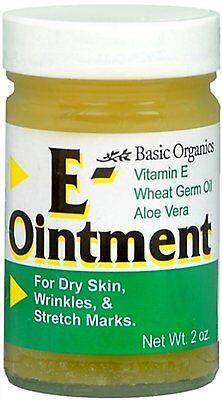 Vitamin E OINTMENT 2oz Basic Organics - for Dry Skin, Stretch Marks, Scars  Dry Skin Ointment