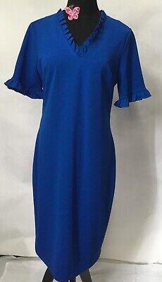 Calvin Klein Royal Blue Sheath Dress  SZ 10 A173TF