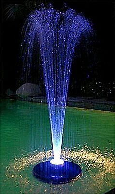 600GPH FLOATING Pond Pool koi WATER FOUNTAIN Aerator & WHITE LITE &  2.NOZZLES!! 2 Fountain Nozzles