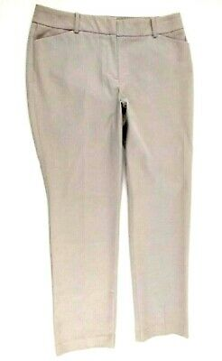 Ann Taylor Curvy Womens Cotton Stretch Casual/Dress Straight Leg Pants 10 Petite