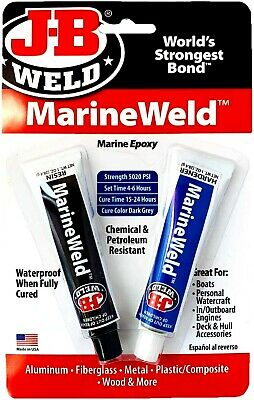 J-b Weld 8272 Marineweld Marine Epoxy For Aluminumfiberglassmetal Etc. - 2 Oz.