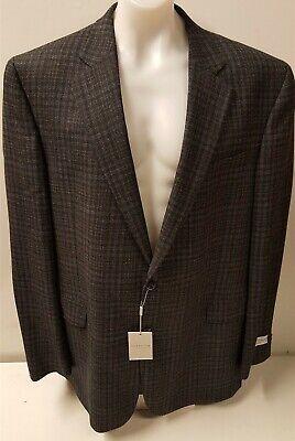 NEW Jack Victor Black/Grey Plaid Sport Coat Suit Jacket Blazer 48L/48XL RRP £695