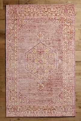 NEW Anthropologie pink lime Muted Overdyed Naima Hand Knot 5 x 8 Rug MSRP $898 for sale  Richboro