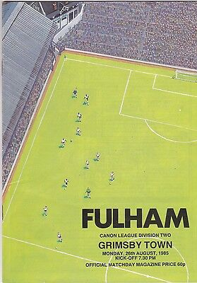 FULHAM  V GRIMSBY TOWN  2ND DIVISION 26/8/85