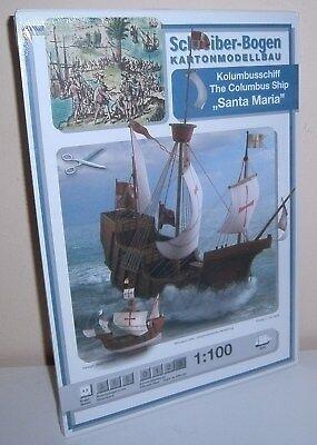"""+ KARTONMODELLBAU  Kolumbusschiff """"SANTA MARIA"""" SCHREIBER-BOGEN 648"""