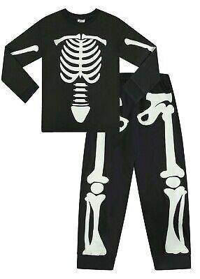Glow In The Dark Pyjamas (Cool Skeleton Glow In The Dark Long Unisex  Pyjamas  Pj 5 to 12 Years)