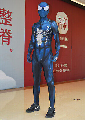 Venom Symbiote Spiderman Costume 3D Printed  Spandex Cosplay Suit For Adult/Kids