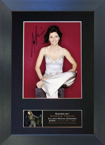 SHANIA TWAIN Mounted Signed Photo Reproduction Autograph Print A4 667