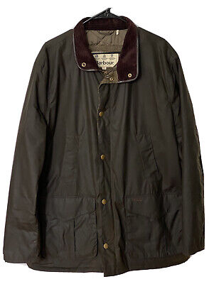 NEW! Barbour Waxed Hereford Jacket Quilted Olive Green MENS Size 2XL
