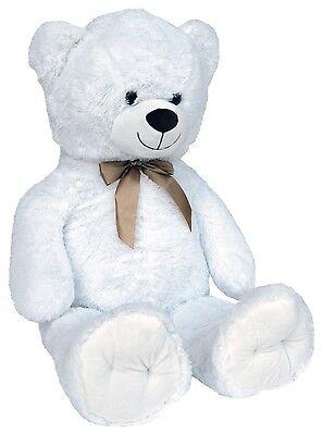 Wagner 9049 - Teddybär 100 cm weiß Teddy Plüschbär Plüschtier 1 m riesen-groß