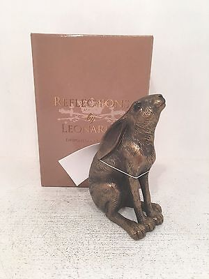 Bronzed Gazing Hare Bronze Reflections by Leonardo Figurine Boxed sku00290