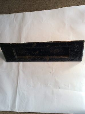 Reclaimed Old Cast Iron Exterior Letter Flap Painted Black 14