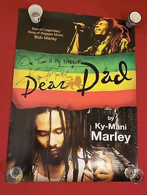 Dear Dad by Ky-Mani Marley Signed Book Poster 2010 Son of Bob Marley Autograph