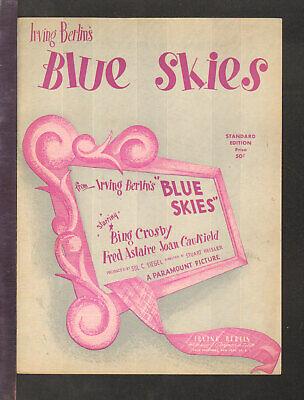 BLUE SKIES 1947 Irving Berlin CROSBY/ASTAIRE Movie Vintage Sheet Music Blue Skies Irving Berlin