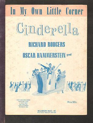 Cinderella R&H 1957 In My Own Little Corner JULIE ANDREWS Movie TV Sheet (In My Own Little Corner Sheet Music)