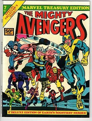 📕 Marvel Treasury Edition #7 The Mighty Avengers BRONZE AGE Jack Kirby (NM 9.4)