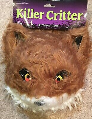 Brand New Killer Critter Brown Bear Fox Wolf Cougar Animal Adult Mask Furry