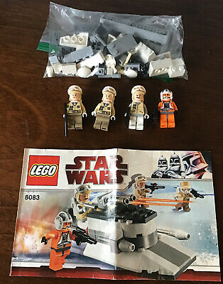 LEGO 8083 Star Wars Rebel Trooper Battle Pack 100% COMPLETE w/ Manual