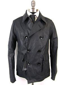 New-PAL-ZILERI-Italy-Pull-Gun-Metal-Vintage-DB-Coat-Jacket-50-40R-40-M-NWT-1295