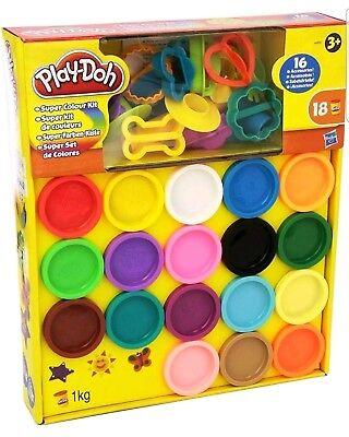 New Play-Doh Super Rainbow Colour Kit 18 Tubs Creative Children
