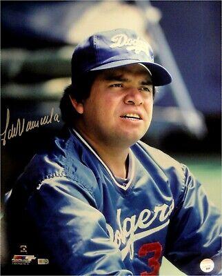 Fernando Valenzuela Hand Signed Autographed 16x20 Photo ROY Sit LA Dodgers MLB
