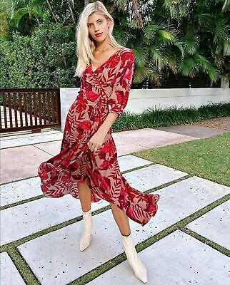 Johanna Ortiz H&m crepe wrap dress Size XL