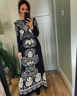 H&M JOHANNA ORTIZ CREPE MAXI DRESS SIZES EXTRA SMALL - LARGE