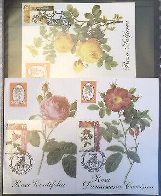 Belgique België, 1997, 3 Souvenirs Philatélique, La Rose, Neufs, Très Bien