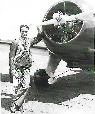 Black   White 5X7 Air Racing Photograph    Vintage  Russell Thaw   Gee Bee