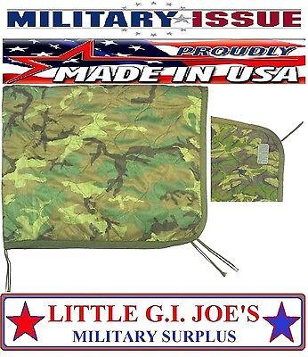NICE USED Military Issue Army & USMC Marine Woodland Camouflage Poncho Liner