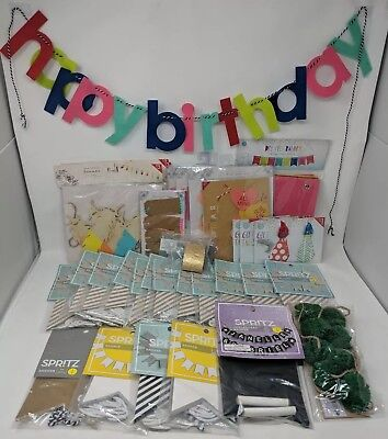 Banners Gift Tags Craft Bundle Multi Color Multi Designs Felt Hanging New