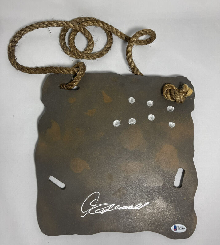 CLINT EASTWOOD SIGNED FISTFUL OF DOLLARS REPLICA BODY ARMOR PROP BAS LOA #A67441