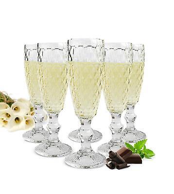 6 Sektgläser 200ml auf Fuß Beate Sektkelche Champagner Prosecco Sektglas Glas