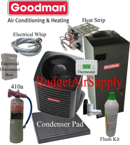 2 Ton 14 Seer Heat Pump Goodman Gsz140241+aruf25b 1.8lb 410a  Flush Install Kit
