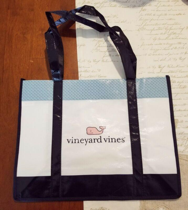Large VINEYARD VINES nylon Reusable Shopping Tote Gift Bag 12x16