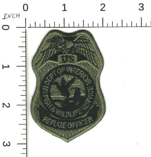 SUB US DEPT OF INTERIOR FISH & WILDLIFE SERVICE REFUGE OFC POLICE HAT PATCH DC