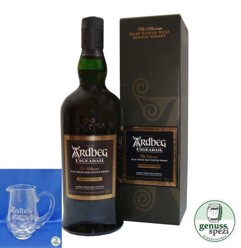 Ardbeg Uigeadail Islay Single Malt Scotch Whisky 54,2%  0,7l + Wasserkrug