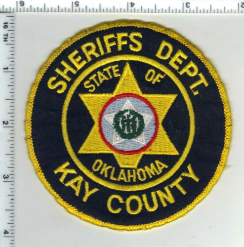 Kay County Sheriff (Oklahoma) Uniform Take-Off Shoulder Patch from the 1980