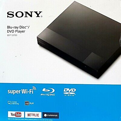 Sony BDP-S3700 Blu-ray-Player, WLAN, 1080p (Full-HD), HDMI,USB,DLNA