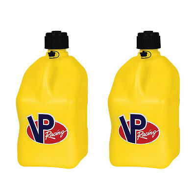 Vp Racing 5 Gallon Motorsport Racing Fuel Utility Jug Gas Can Yellow 2 Pack