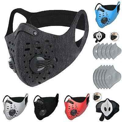 Reusable Face Mask Breathing Valves Sports Cycling Outdoor Active Carbon Filter Accessories