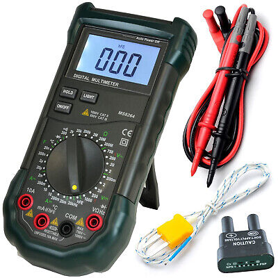 Mastech Ms8264 30-range Digital Multimeter With Temperature Measurement Backlit