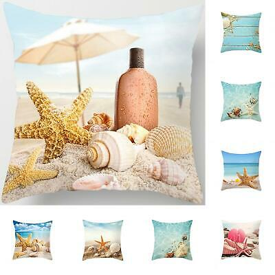 Suummer Sea Beach Starfish Seashell Throw Pillow Case Cushion Cover Bedroom Deco Home & Garden