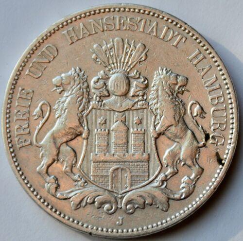 German States Hamburg 5 Mark, 1903 J