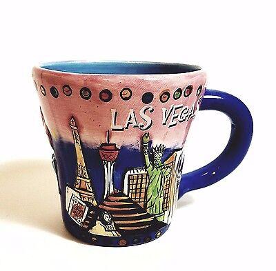 Las Vegas Mug (Sky Dark Blue Hand Painted )