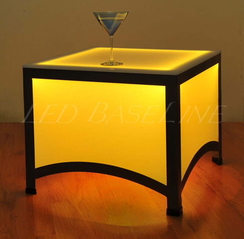 """17.5"""" LED END TABLE MODERN COLOR CHANGING"""