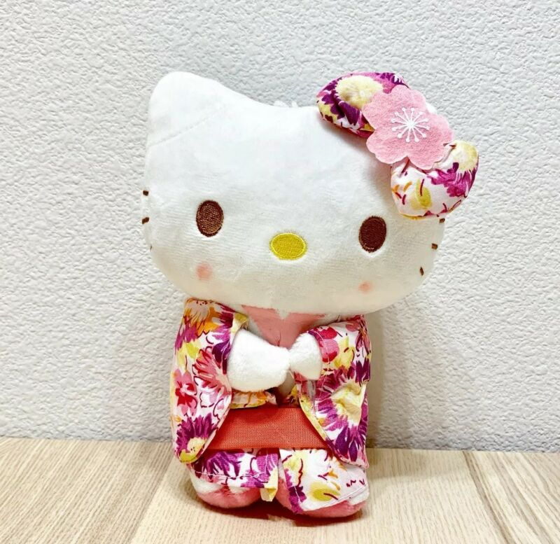 "New Sanrio Hello Kitty 7.5"" Kimono Plush Doll Anime Toy Kawaii Japan - US SHIP"