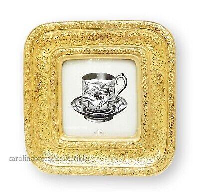 Light Gold Ornate Frames - Photo Frame Ornate Embossed Scrollwork Lightly Antiqued Gold for 4x4 Picture