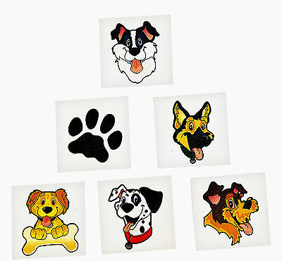72 PUPPY PARTY DOG TATTOOS temporary Girl's or Boy's kids birthday party favors - Puppy Tattoos