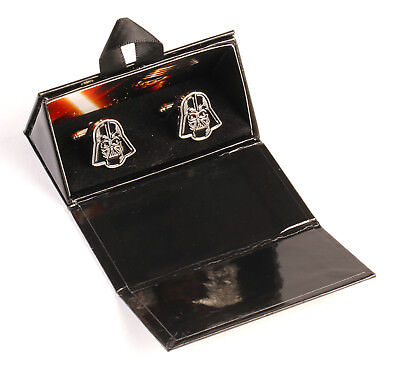 Star Wars DARTH VADER Cufflinks, Genuine Disney/Lucasfilm, NEW, Boxed, Enamel